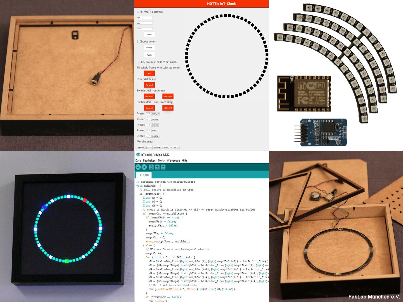 Bau einer LED-Uhr mit IoT-Funktionalität (WLAN) - FabLab München ...